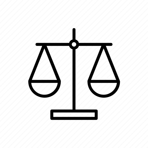 balance, court, justice, legal, measure, scale, weighing icon