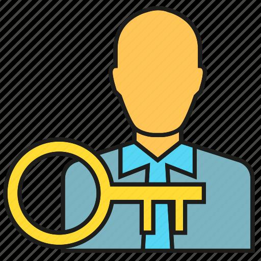 key, people, secret, security icon