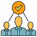 business people, group, people, teamwork icon