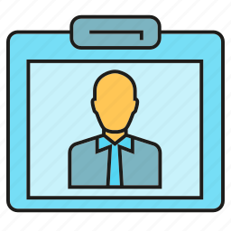 business card, id card, office, profile icon