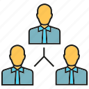 business people, manpower, organization chart, people icon