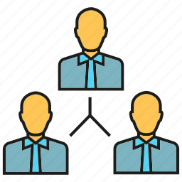 business people, manpower, organization chart, people icon