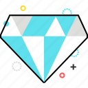 diamond, fashion, gem, premium icon