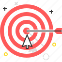 achieve, aim, arrow, target icon