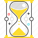 clock, management, sand, timer icon