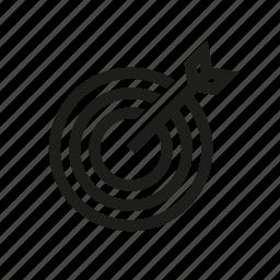arrow, business, finance, target icon