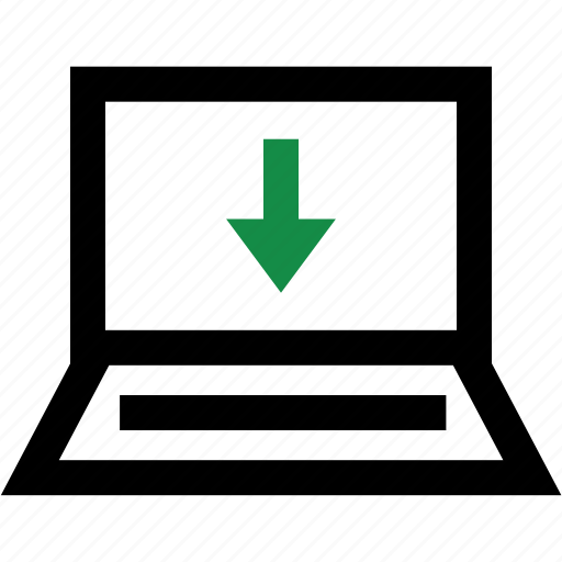 arrow, down, download, internet icon