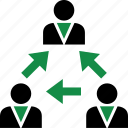 arrows, data, internet, user icon