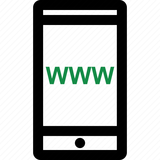 mobile, website, www icon