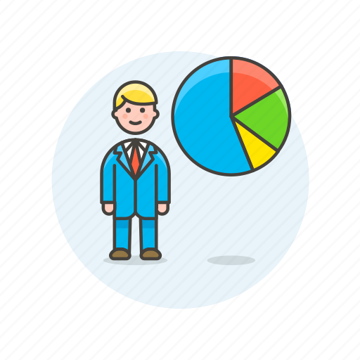 analytics, business, chart, goal, graph, man, report icon