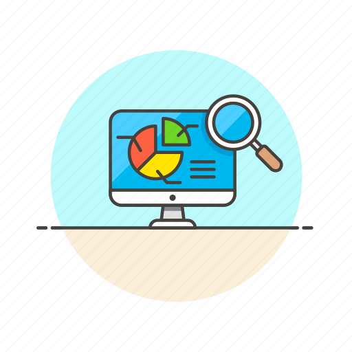 analytics, business, chart, finance, graph, growth, inspect, search icon