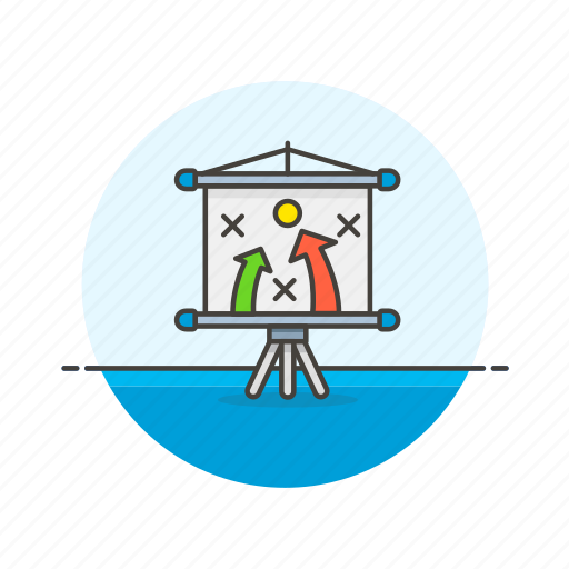analytics, board, business, goal, plan, present, report, strategy icon