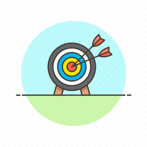 business, goal, hit, middle, success, target, win icon