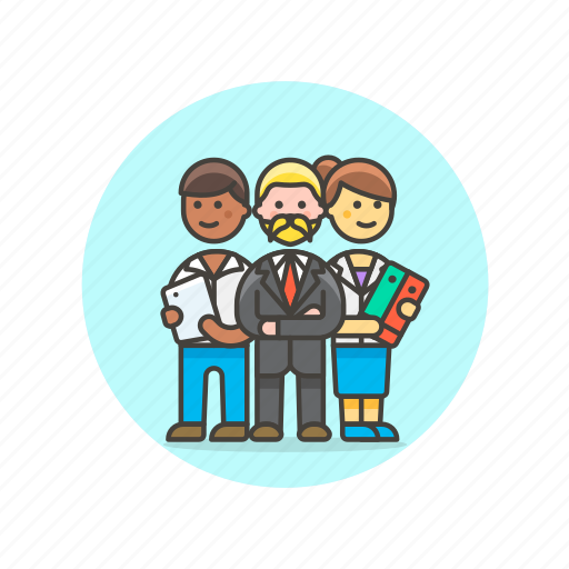 business, colleague, group, leader, people, team, work icon