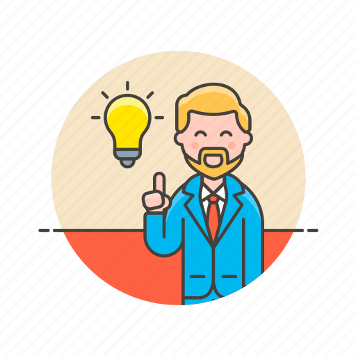 bulb, business, idea, light, man, plan, strategy icon