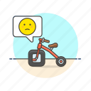bad, bike, business, design, fail, imprefect, sad icon