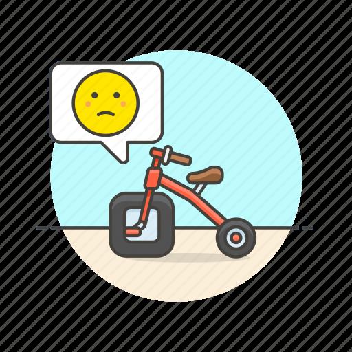 bad, bike, business, design, fail, imprefect, sad icon
