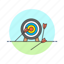 arrow, bad, business, fail, fall, not, on, target icon