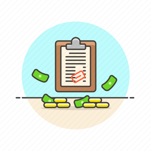 approve, budget, business, cash, financial, list, money icon