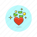 business, financial, heart, money, cash, favorite, love icon