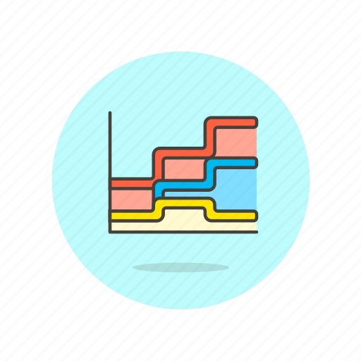 analytics, area, business, chart, finance, graph, growth icon