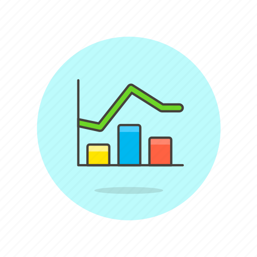 analytics, bar, business, chart, curve, goal, graph, line, report icon