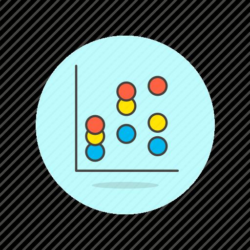 analytics, business, chart, diagram, dot, graph, presentation icon