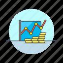 business, finacial, graph, analytics, coin, grow, money