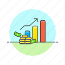analytics, bar, business, chart, financial, graph, line, report icon