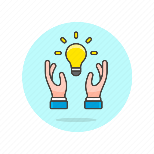 bulb, business, hand, idea, light, plan, solution, strategy icon