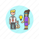 business, buy, idea, pay, sell, solution, strategy icon
