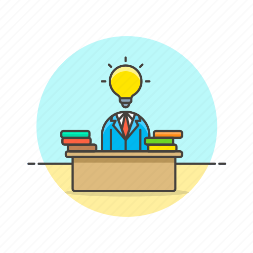 bulb, business, idea, light, plan, solution, strategy icon