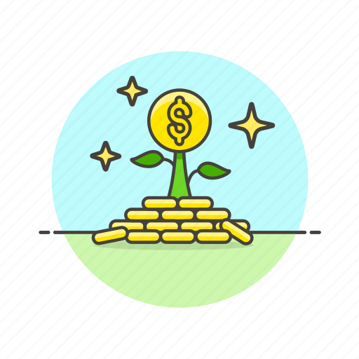 business, dollar, grow, investment, money, plant, seed, success icon
