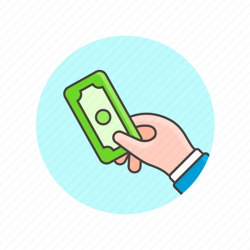 business, cash, currency, finance, hand, money, payment icon