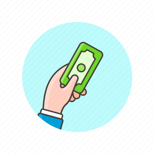 business, cash, gesture, give, hand, money, payment icon