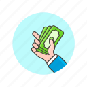 business, cash, finance, hand, money, payment icon