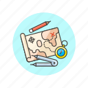 analytics, business, compass, map, navigator, plan, search, strategy icon