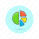 analytics, business, chart, finance, graph, growth, pie icon