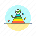 business, graph, pyramid icon