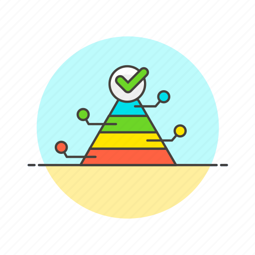 analytics, business, chart, goal, graph, pyramid, report icon