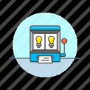 business, idea, random, slotmachine icon