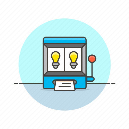 brainstorm, business, gamble, idea, machine, paper, random, slot icon