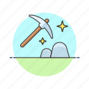 business, deep, dig, discover, mine, resource, tool icon