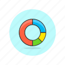 business, graph, ring icon