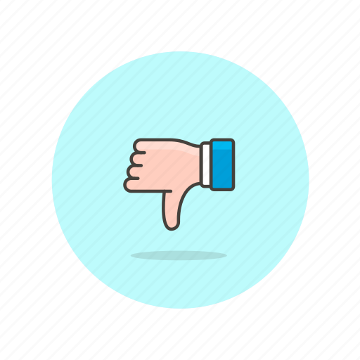 bad, business, dissapoint, down, fail, gesture, result, thumb icon