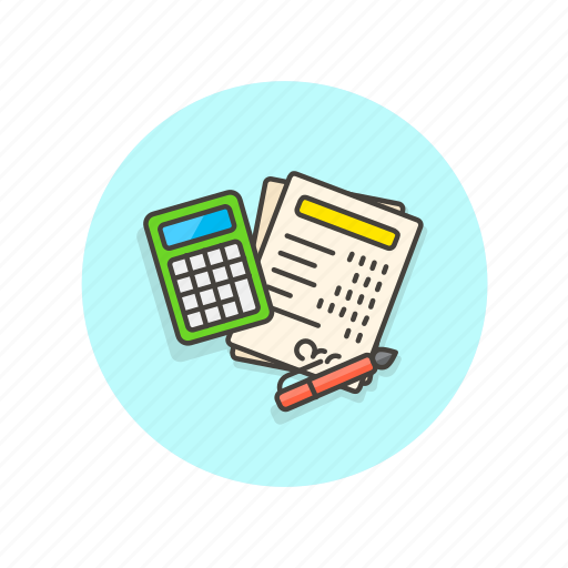 billing, business, calculator, equipment, finance, office, paperwork icon