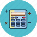calculator, mathematics, minus, multiplication, plus icon