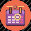 calendar, deadline, mission, target icon