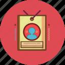 admin, id card, member, portfolio icon