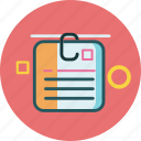 circle, document, pages, square icon
